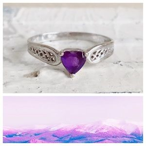 Jewelry - Ring White Gold & Purple Heart